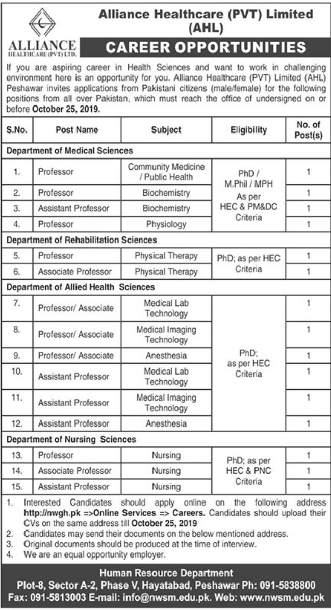 Alliance Healthcare Pvt Limited Jobs 2019