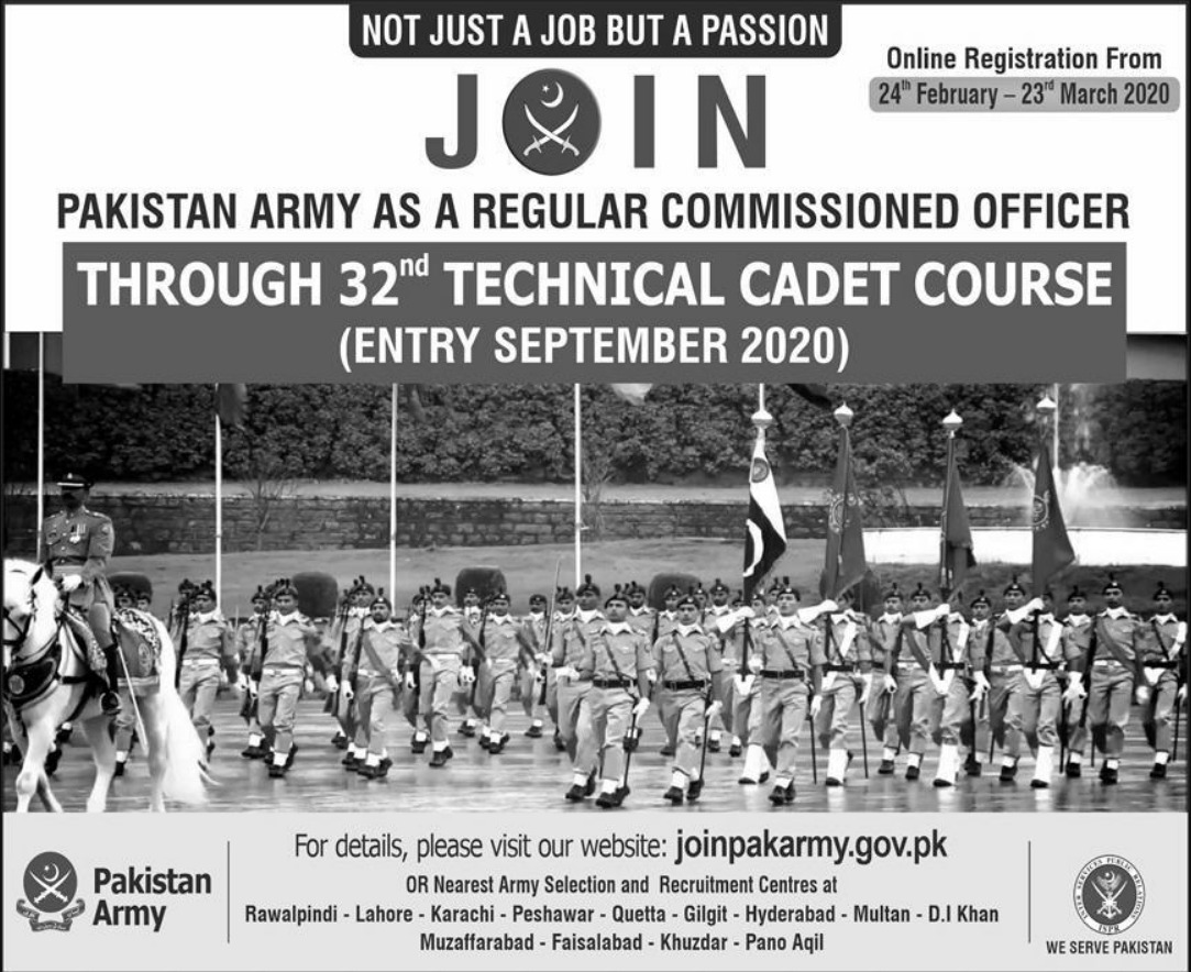 Join Pakistan Army as Regular Commissioned Officer 2020