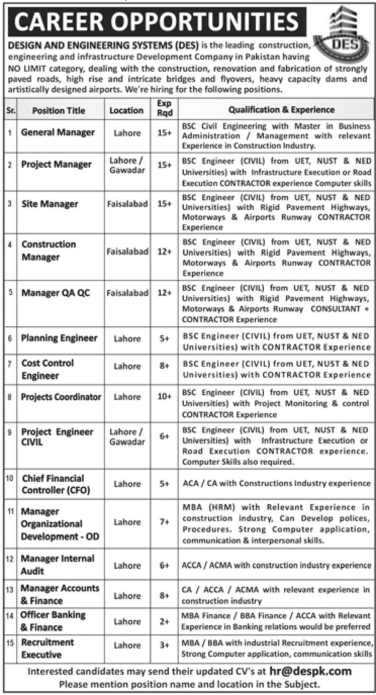 Design & Engineering Systems Jobs September 2020