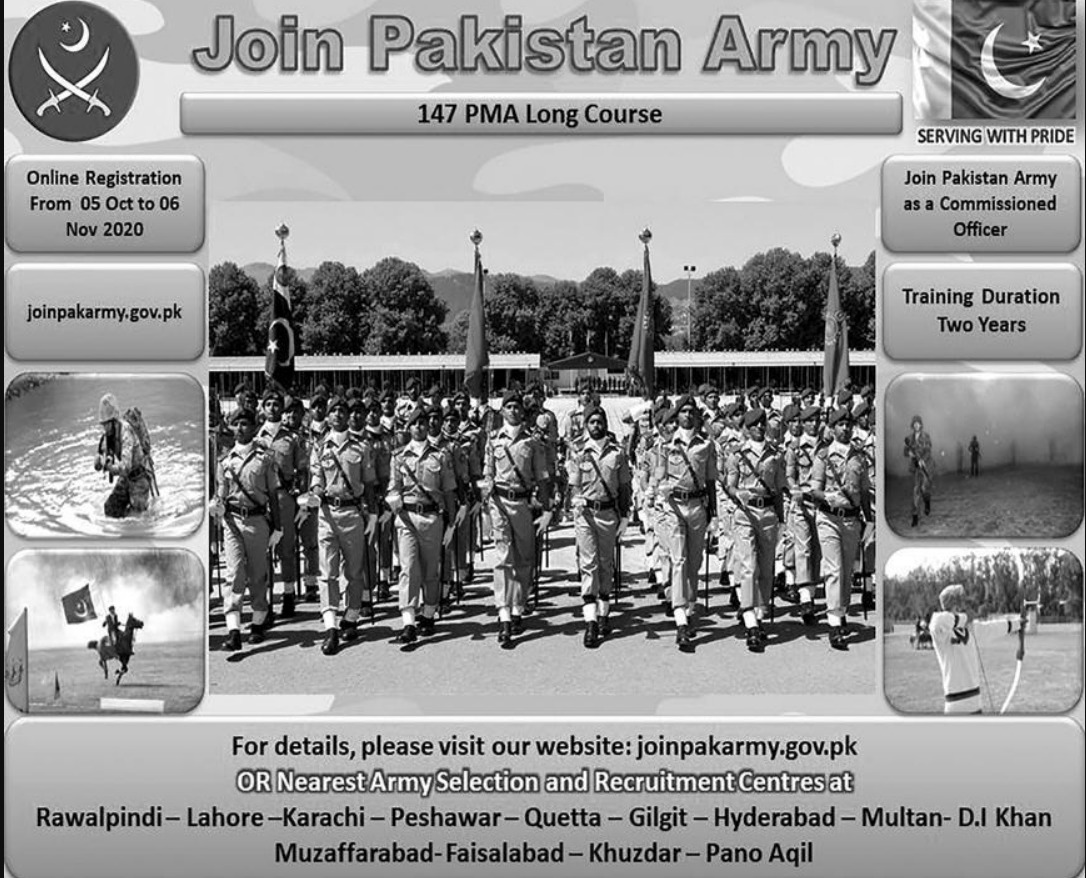 Join Pakistan Army as a Commissioned Officer October 2020