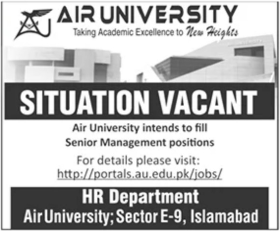 Air University Islamabad Jobs November 2020
